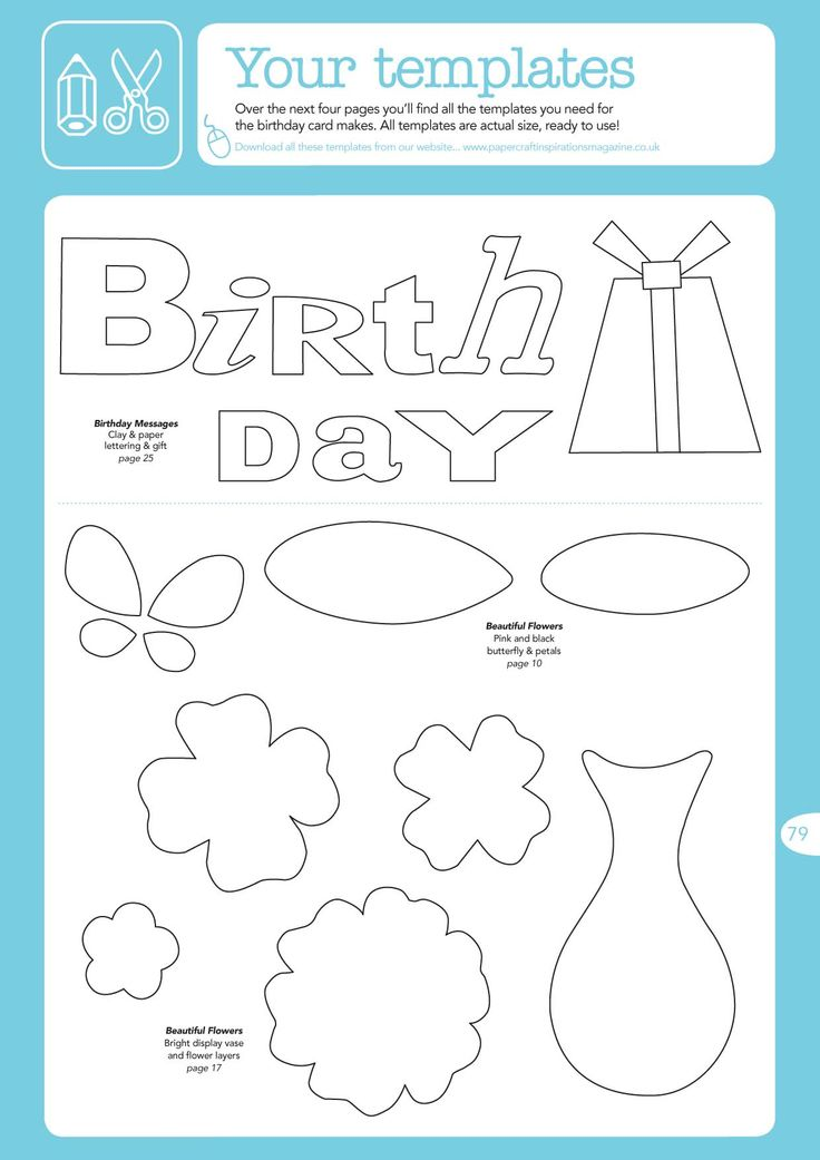 36 best Birthday Cards - Templates images on Pinterest Birthdays - birthday card template