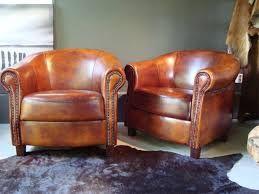 Afbeeldingsresultaat voor leren fauteuil cognac