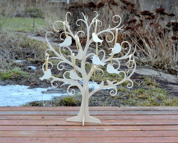 Baby Shower Wishing Tree with 50 tags Baptism by HappyPlywood