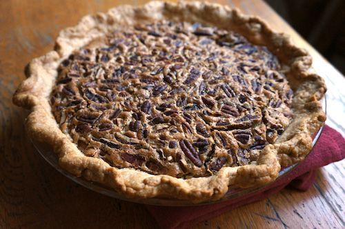 Pecan Pie - NO corn syrup! This was sooo dang good. It was devoured at Thanksgiving.