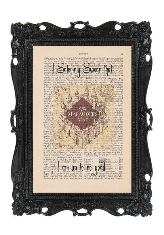 Hey, I found this really awesome Etsy listing at https://www.etsy.com/listing/161498466/harry-potter-antique-dictionary-art