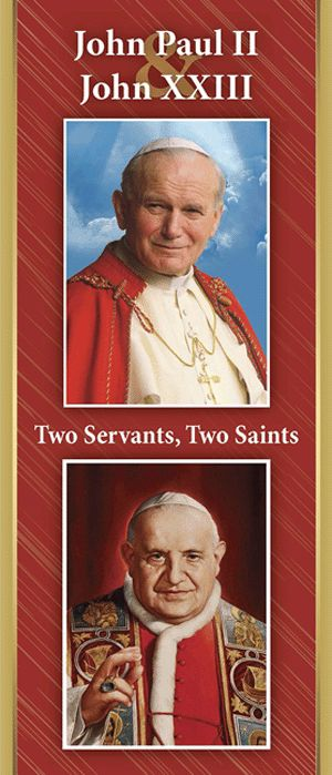 John Paul II and John XXIII: Two Servants, Two Saints -- A new pamphlet from OSV to help Catholics better understand and appreciate the canonization of two beloved popes -- John Paul II and John XXIII.