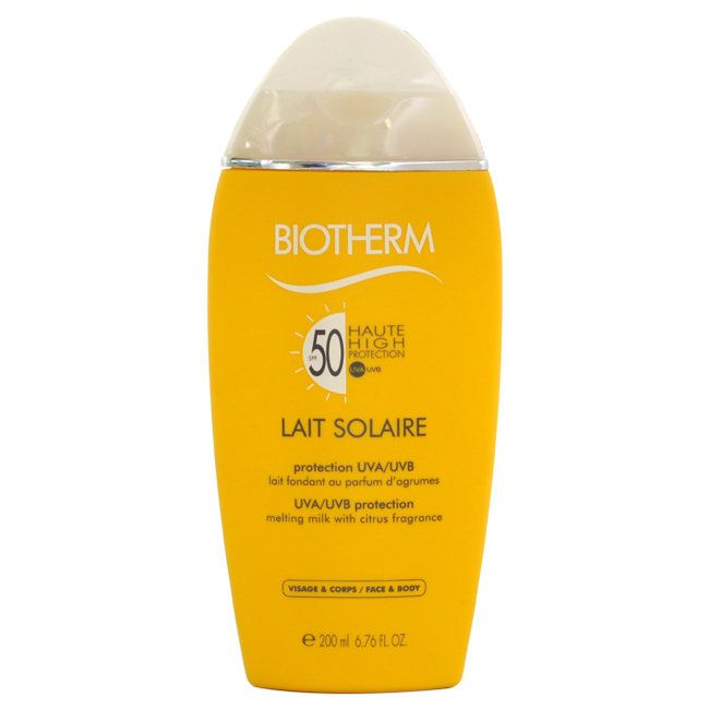 Biotherm Lait Solaire SPF 50 UVA/UVB Protection Face/ Body 6.76-ounce Melting Milk