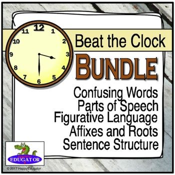 These Beat the Clock PowerPoint games are a fun, interactive way for students to practice working with various types of word groups. Students are given two sentences and have thirty seconds to answer the prompt. They can work with a partner and use wipe-off boards or write the answers down on paper.