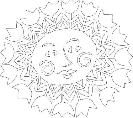 šablona - slunce