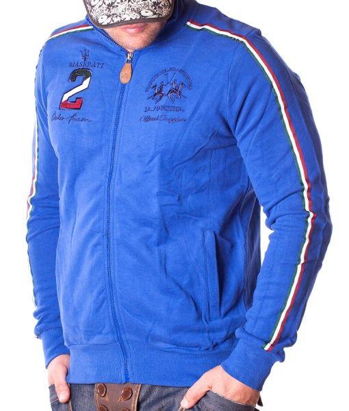 La Martina Hanorace Cu Fermoar - Maserati 2 Polo Team hanoraca  cu fermoar albastru deschis