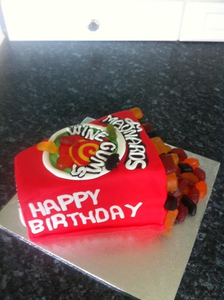 Wine gum cake