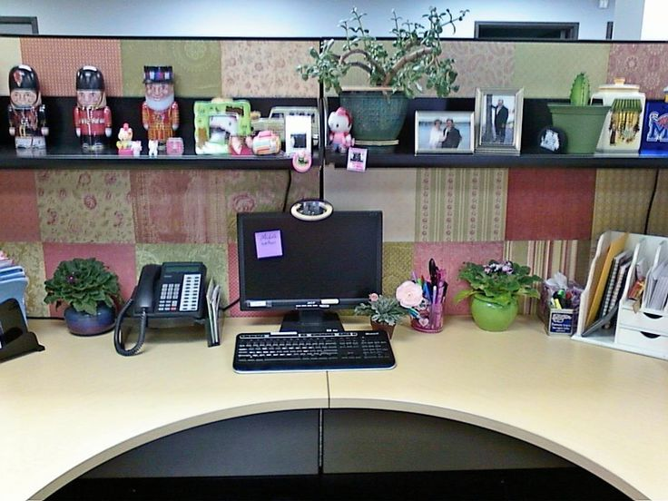 this lady decorated the walls of her cubicle with scrapbook paper i think it made it sleek and. Black Bedroom Furniture Sets. Home Design Ideas
