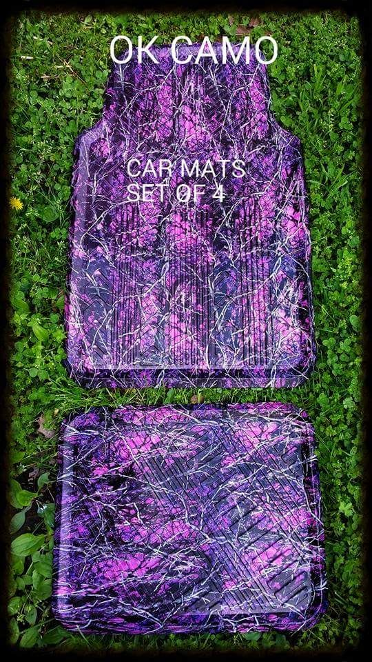 Floor mats for car or truck. Dipped in Muddy girl camo