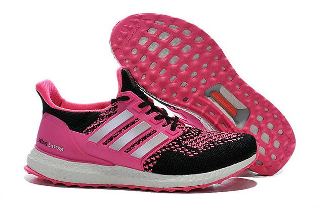 adidas Ultra Boost 2015 2016 PrimeKnit Pink Fire Black Silver UK Trainers 2017/Running Shoes 2017