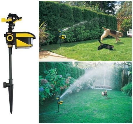 Contech Scarecrow Sprinkler Hoses Down Garden Trespassers......great for the deer,squirrels,gophers! :)