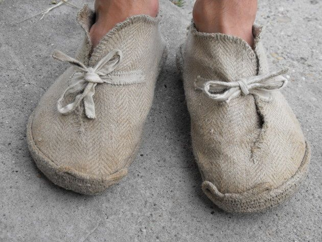 rope soled canvas shoes - explanation of their crafting process
