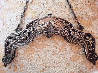 ❥ antique silver purse frame/handle