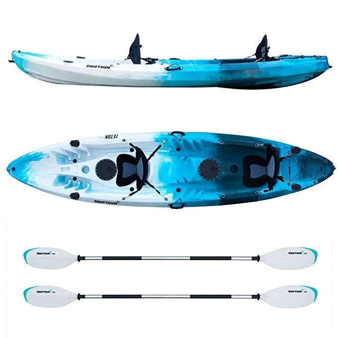 Recreational Kayak 12 Foot Two Person Tandem Kayak Is