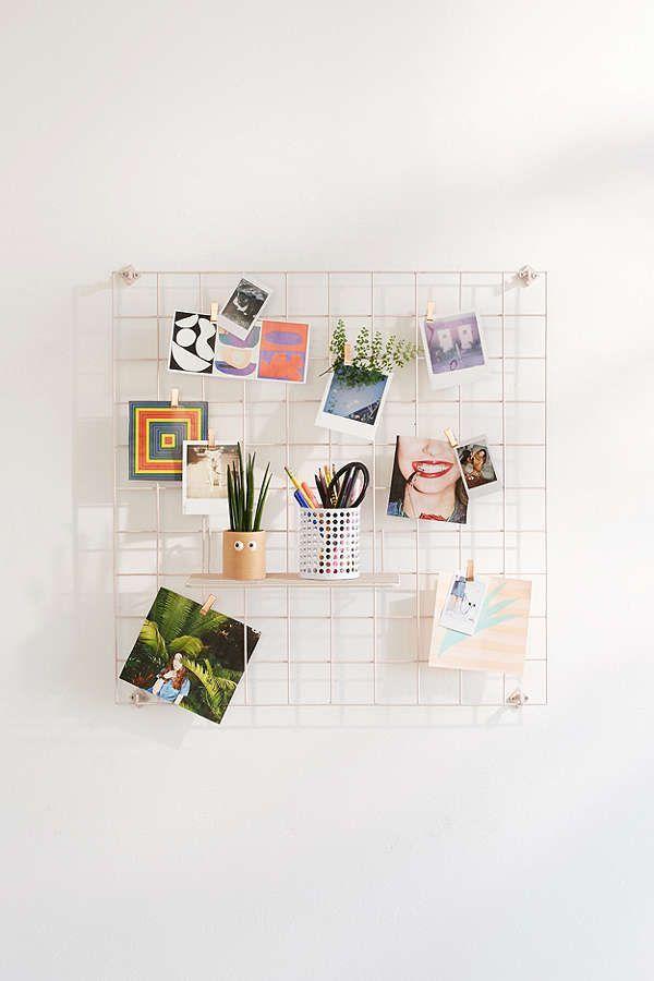 Wire Wall Grid Shelf   Aesthetic room decor, Decor, Room decor