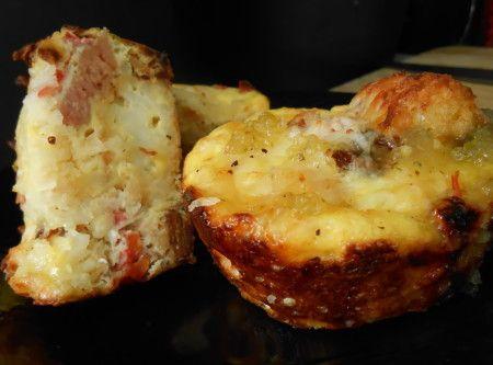 Ham & Tater tot egg a la muffin tin Recipe | Just A Pinch Recipes