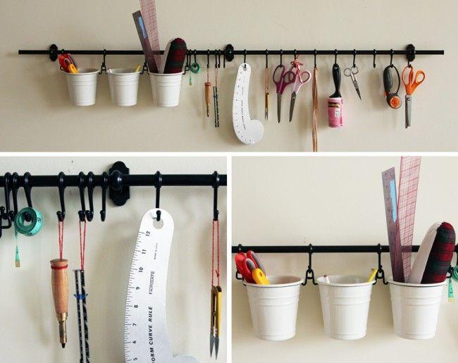 Sewing Room Organization Ikea Fintorp Rail Http Www