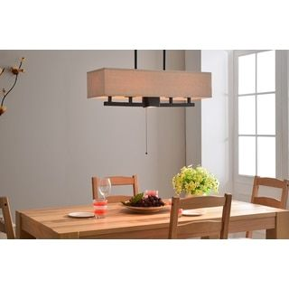 Crate 4 Light Island By Design Craft Pull ChainRoom