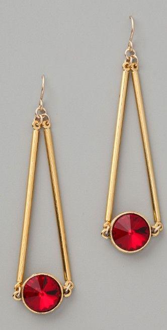 Gemma Redux Siam Red Crystal Drop Earrings | SHOPBOP