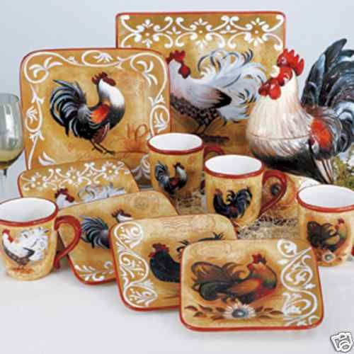 country kitchen ware 1000 images about rooster dinnerware on lille 2925