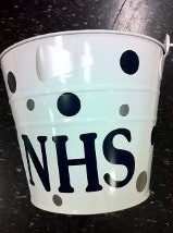 Cheerleading Snack bucket for games.  Call Jackie's Embroidery at 770-772-9777 for more information.
