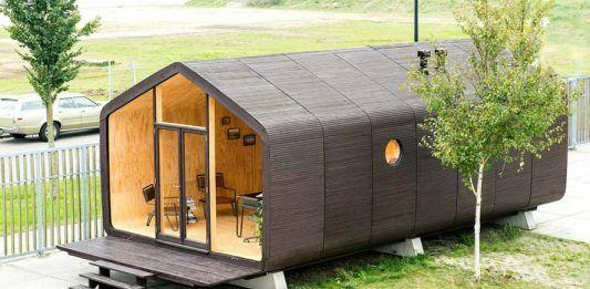 Cette maison est 100% recyclable : elle est en carton ! Une technique bluffante !