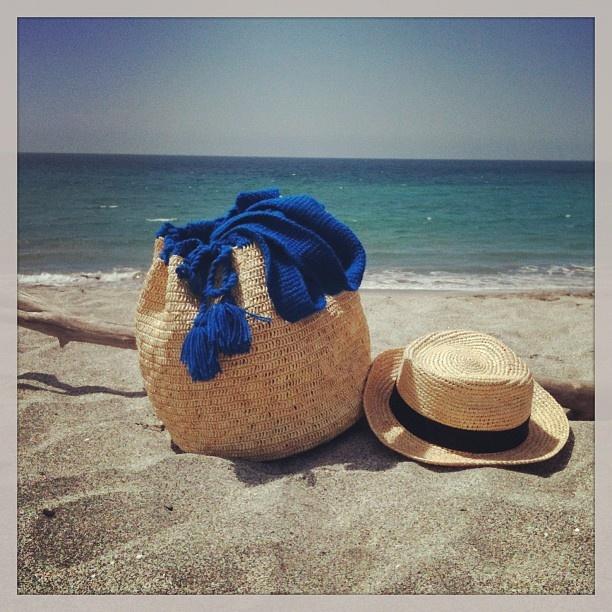 Toquilla Heaven!    Hippie beach bag and fedora crochet hat by PRYMAL  All toquilla straw, 100% handmade