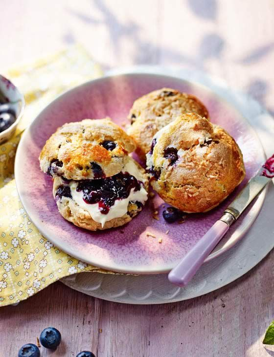 Blueberry, coconut and lime scones (recipe)