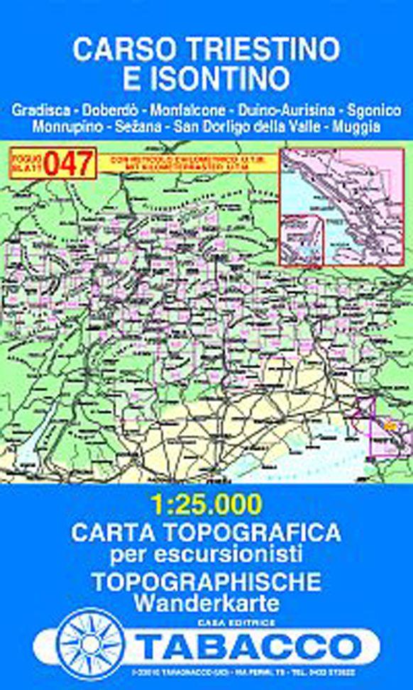 """47 """"Carso, Triestino e Isontino"""" « Zemljevid tuji - Iglu šport"""