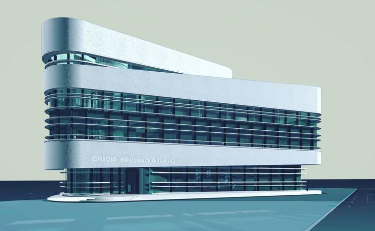 Design for an office building, Daniël van den Berg at EGM