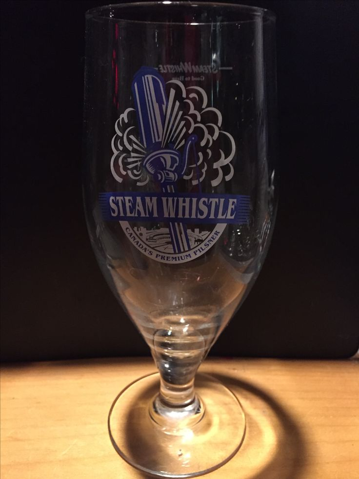 Steam Whistle  Large beer glass