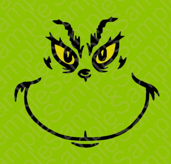 grinch face template | Grinch Inspired T Shirt Face SVG and DXF Cut Files