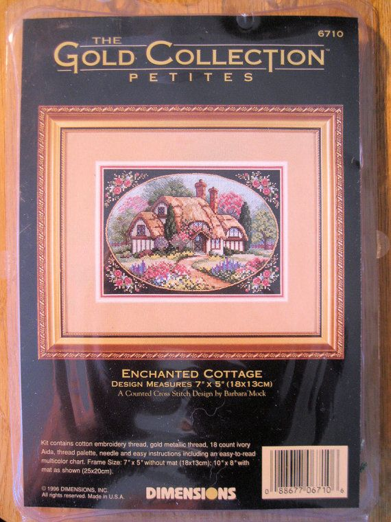 Enchanted Cottage Counted Cross Stitch Kit by BrightEyesTreasures
