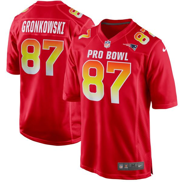 18bb9f4d6 Patriots 87 Rob Gronkowski Pro Bowl Jersey
