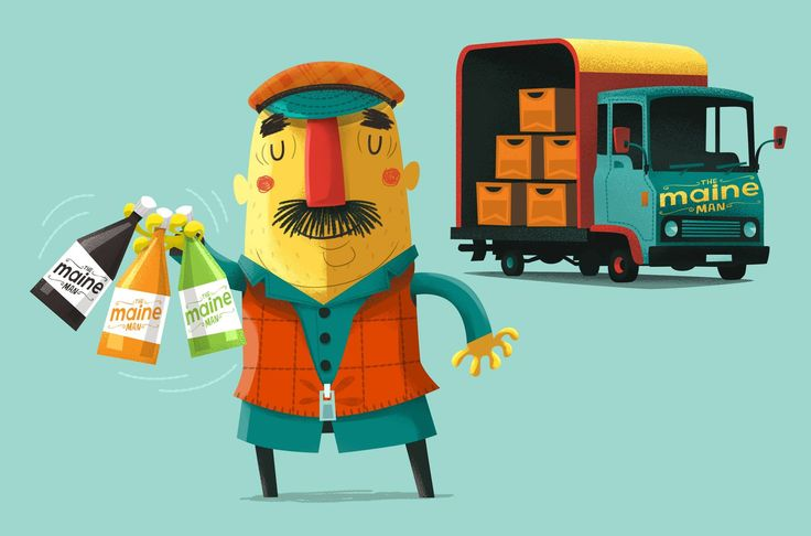 A little job from 12 months ago that unfortunately might never progress any further. Character based on the traditional delivery guys who could carry 3 glass bottle between their fingers in Belfast.