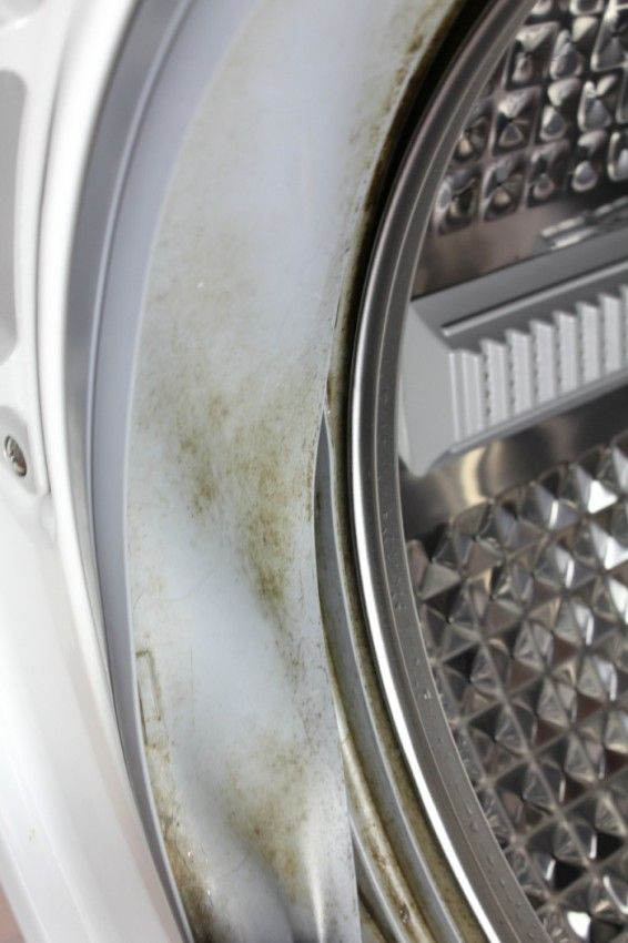 front load washer side grime