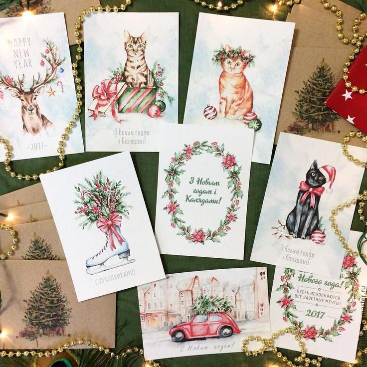 Новогодние открытки своими рисунки, днем рождения