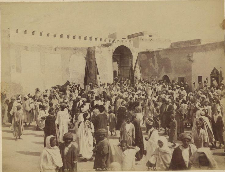 N. D. Tunisie, Kairouan, Fête arabe à la Porte de Tunis    #Afrique_Africa #Tunisie