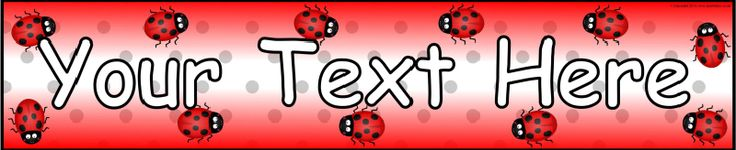 Editable ladybird-themed banner template (SB9809) - SparkleBox