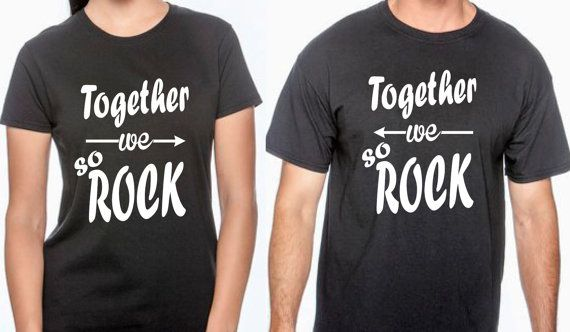 Together we so rock. t shirts for couple. by BRDtshirtzone on Etsy