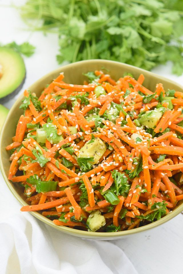 Today's recipe, Raw Asian Carrot Avocado Salad, is a great accompaniment to any social gathering or event you have planned for this summer. It's also great to munch on at home or to pack for work. This dish is packed with beauty nutrients with an Asian flair.