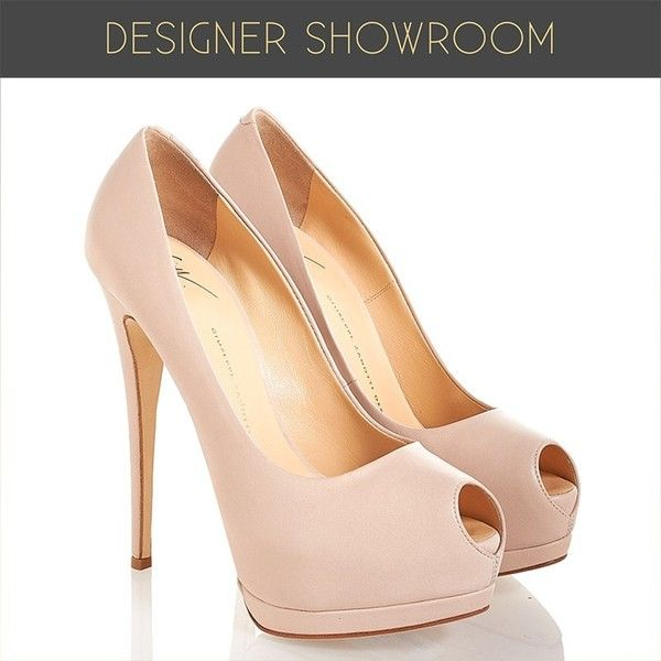 Leather Peep Toe Platform Pumps ($300) ❤ liked on Polyvore featuring shoes, pumps, party shoes, special occasion shoes, peep-toe pumps, leather shoes and evening pumps