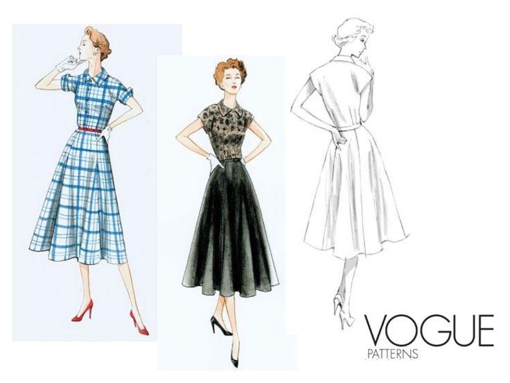 Wykrój Vogue 9000 Sukienka w stylu Vintage
