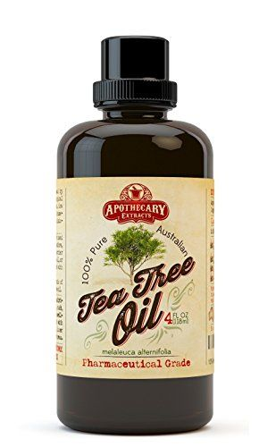 Apothecary Extracts - Tea Tree Oil - 100% Pure Australian Tea Tree Oil - 4-Ounce Value Pack - Pharmaceutical Grade Essential Oil - Treats Acne Cutaneous Skin Tags Bacterial Infections and More