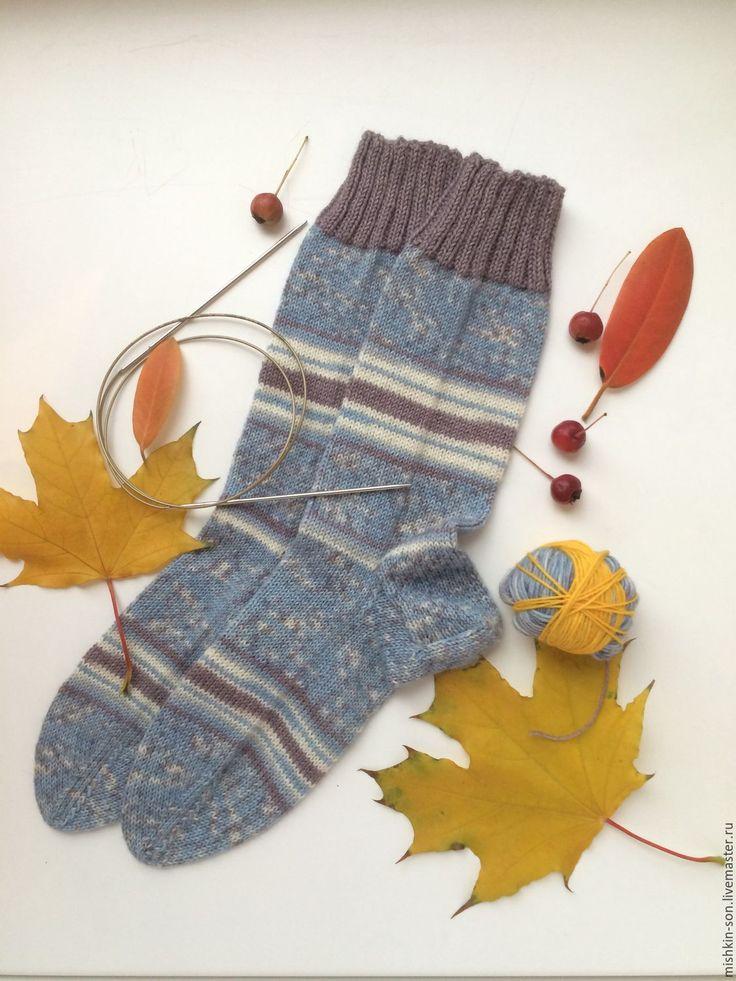 Купить Носочки Сиреневые сумерки - носки, Носки шерстяные, носочки вязаные, носки теплые