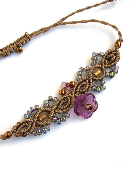Flechtarmbänder - * Armband Makramée  * - ein Designerstück von crochet bei DaWanda