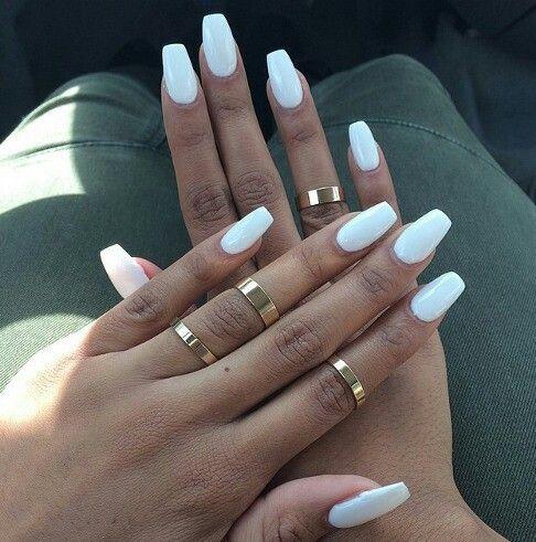 bridal white nail art girly