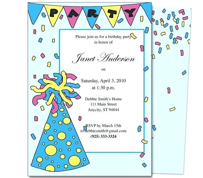 Awesome Birthday Party Invitation Maker Beautiful Birthday Party
