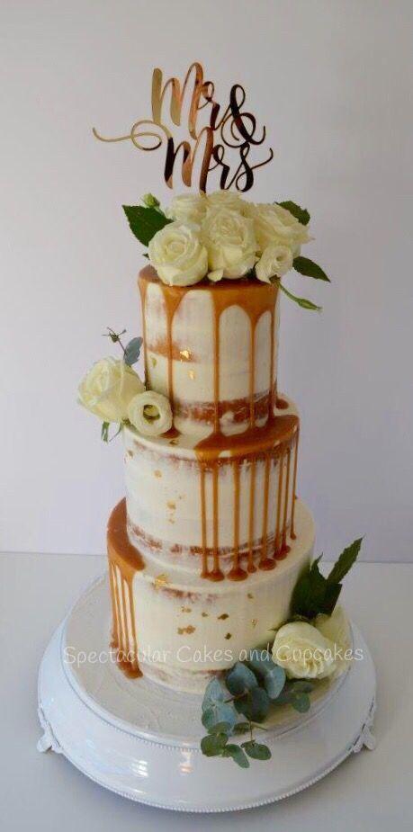 Semi naked cake wedding cake buttercream cake Sydney