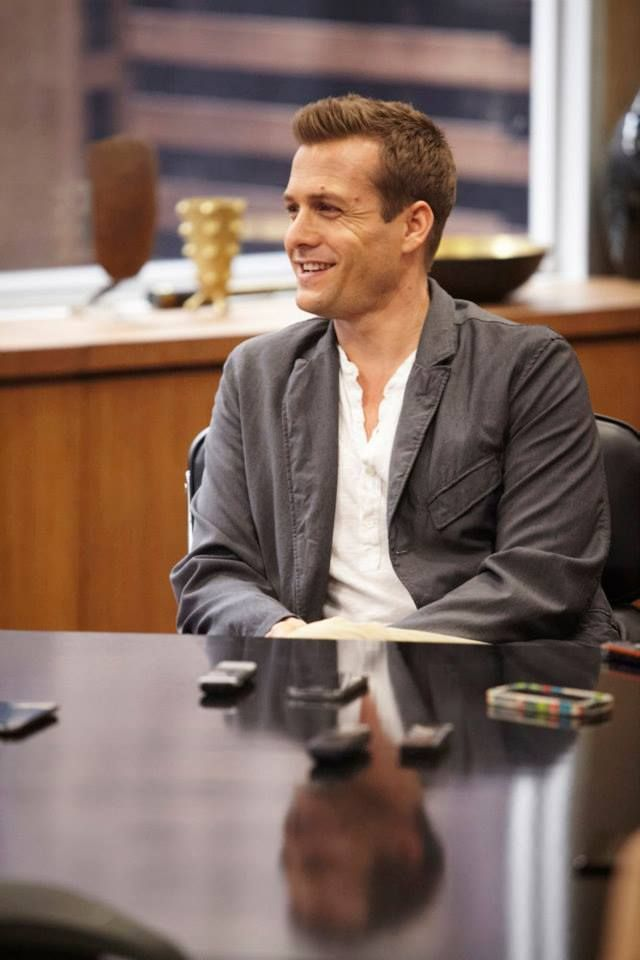 Gabriel Macht during set visit